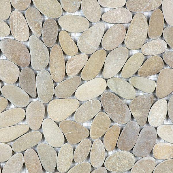 Driftwood_Tan_Flat_Pebble_Mosaics
