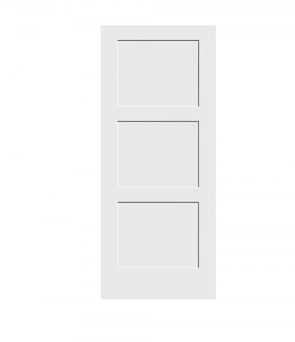 Shaker 3-Panel Solid Door