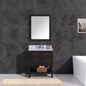 30 inch and 36 inch black classic bathroom vanity