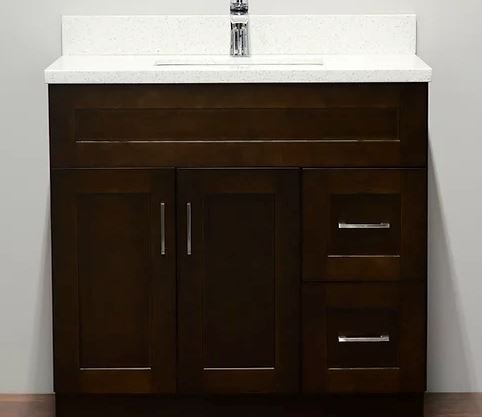 Tesoro - Bathroom Vanity - TOP-31 Dark Walnut Shaker