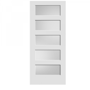 Frosted Glass 5-Panel Door