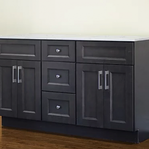 60 dark grey shaker bathroom vanity