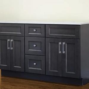 60 dark grey shaker bathroom vanity