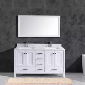 72 Inch and 60 inch white shaker vanity