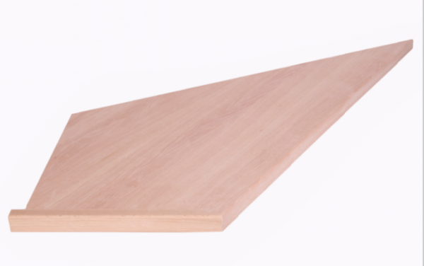 Oak Stair Tread Triangle (Pie)