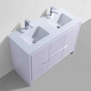 Dolce - Modern Vanity - High Gloss White