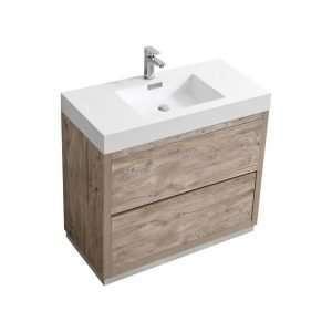 Bliss - Free Standing Modern Bathroom Vanity - Nature Wood