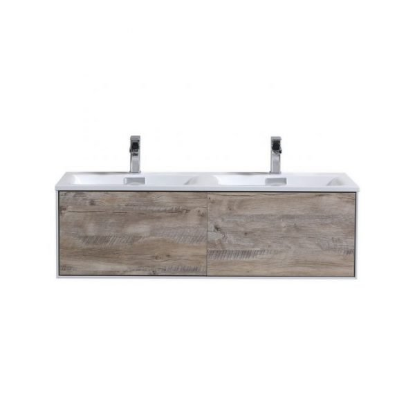 Divario - Modern Bathroom Vanity - Nature Wood
