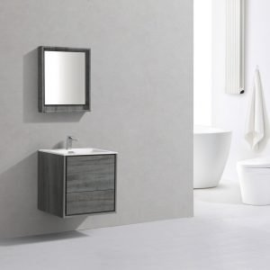 DeLusso - Wall Mount Modern Bathroom Vanity