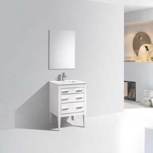 Eiffel Vanity - High Gloss White
