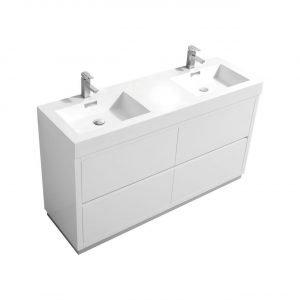 Bliss - Free Standing Modern Bathroom Vanity - High Gloss White