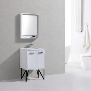 Bosco - Modern Bathroom Vanity - Gloss White