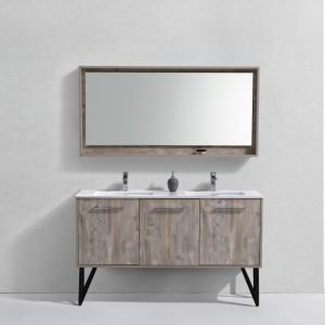 Bosco - Modern Bathroom Vanity - Nature Wood