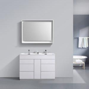 Milano - Modern Bathroom Vanity - High Glossy White