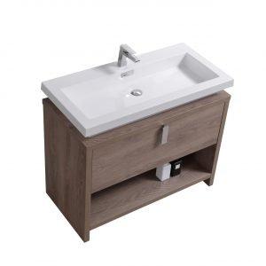 Levi - Modern Bathroom Vanity - Butternut