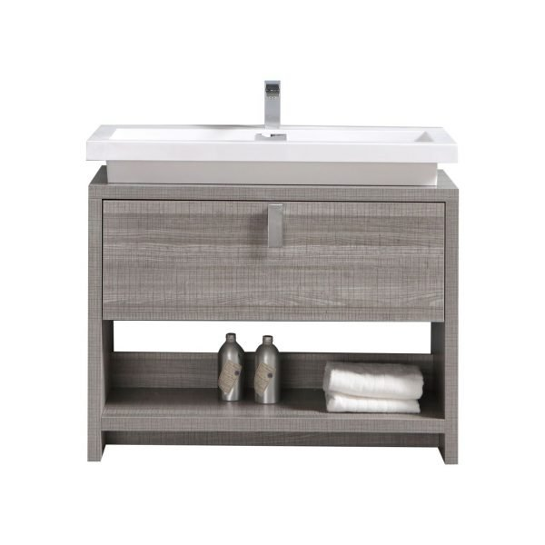 Levi - Modern Bathroom Vanity - Ash Gray