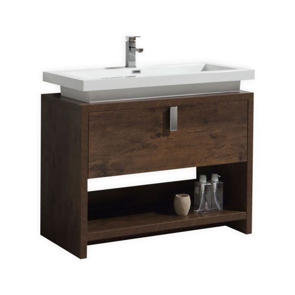 Levi - Modern Bathroom Vanity - Rose Wood