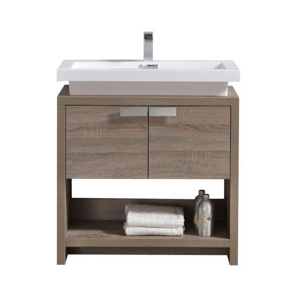 Levi - Modern Bathroom Vanity - Havana Oak