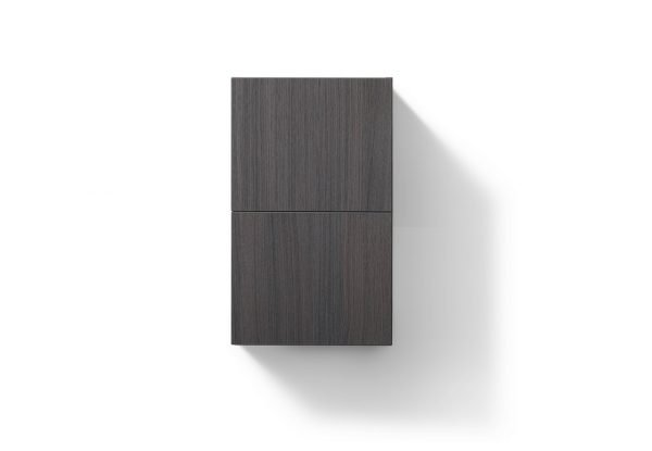 """Bliss 14"""" Wide by 24"""" High Linen Side Cabinet With One Door in Gray Oak Finish"""