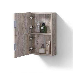 "Bliss 14"" Wide by 24"" High Linen Side Cabinet With One Door in Nature Wood Finish"