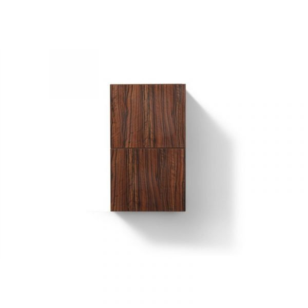 """Bliss 14"""" Wide by 24"""" High Linen Side Cabinet With One Door in Walnut Finish"""