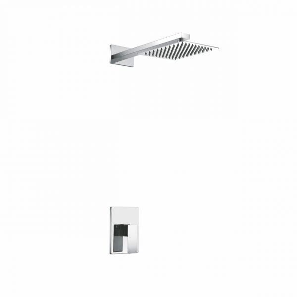 "Aqua Piazza Chrome Shower Set with 12"" Square Rain Shower"