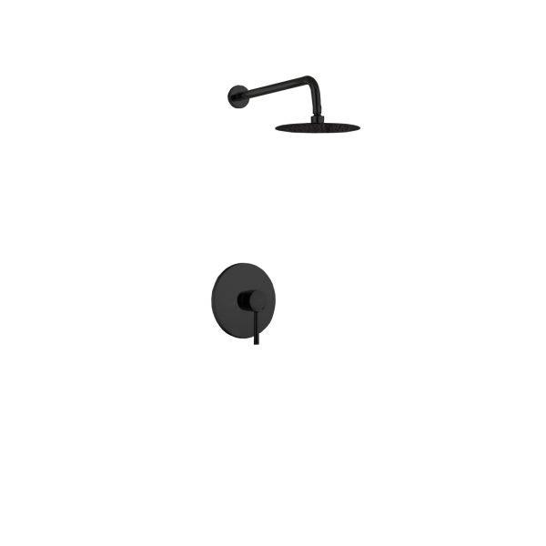 "Aqua Rondo Shower Set w/ 8"" Rain Shower - Black"