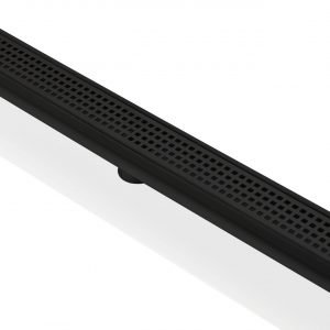 """Kube 28"""" Linear Drain with Pixel Grate  - Matte  Black"""