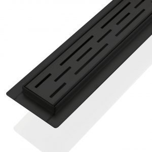 """Kube 36"""" Linear Drain with Linear Grate - Matte  Black"""