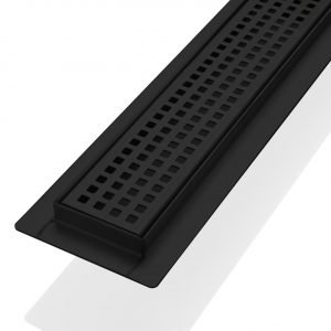 """Kube 36"""" Linear Drain with Pixel Grate - Matte  Black"""