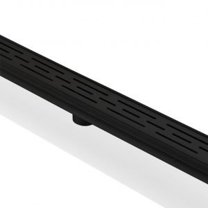 """Kube 48"""" Linear Drain with Linear Grate - Matte  Black"""
