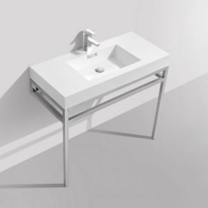 Haus - Stainless Steel Console W/ White Acrylic Sink
