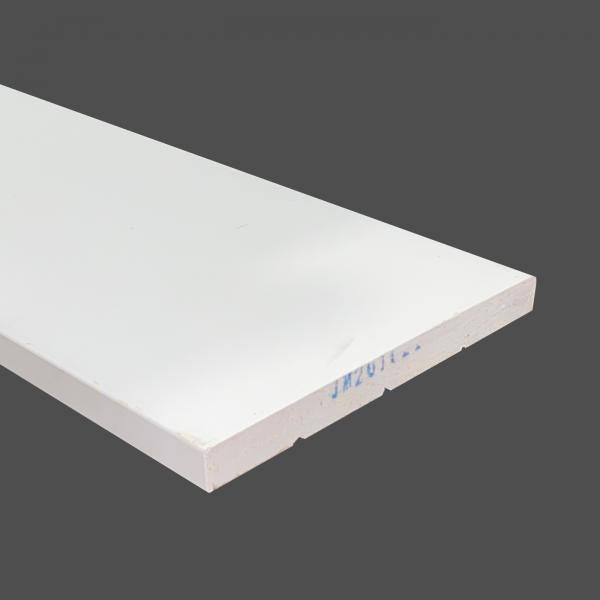 Baseboard MDF eased edge