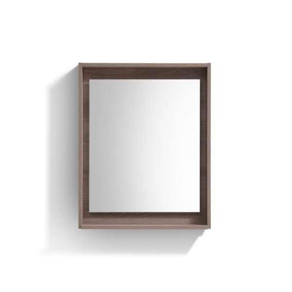 """Bosco 24"""" Framed Mirror With Shelve - Butternut  Finish"""