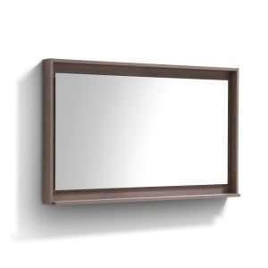 """Bosco 48"""" Framed Mirror With Shelve - Butternut  Finish"""