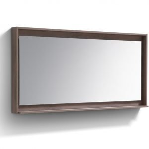 "Bosco 60"" Framed Mirror With Shelve - Butternut  Finish"