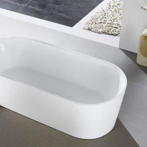 Kube Ovale 59'' White Free Standing Bathtub