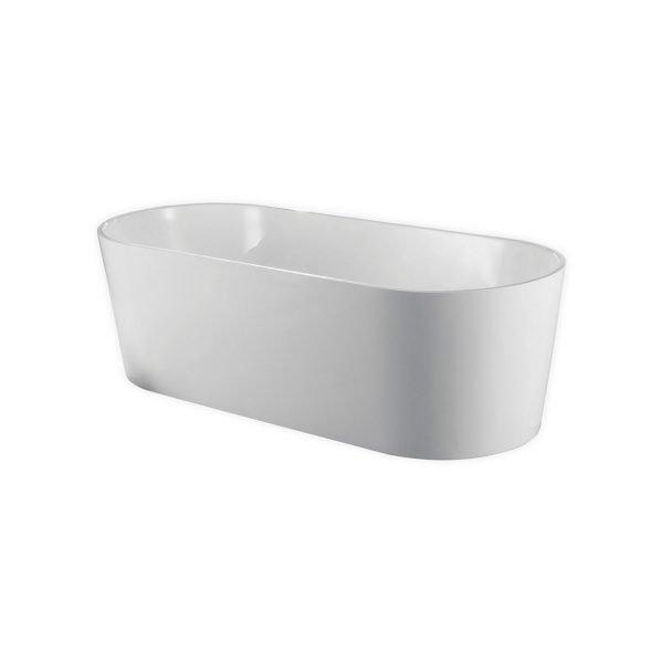 Kube Ovale 67'' White Free Standing Bathtub