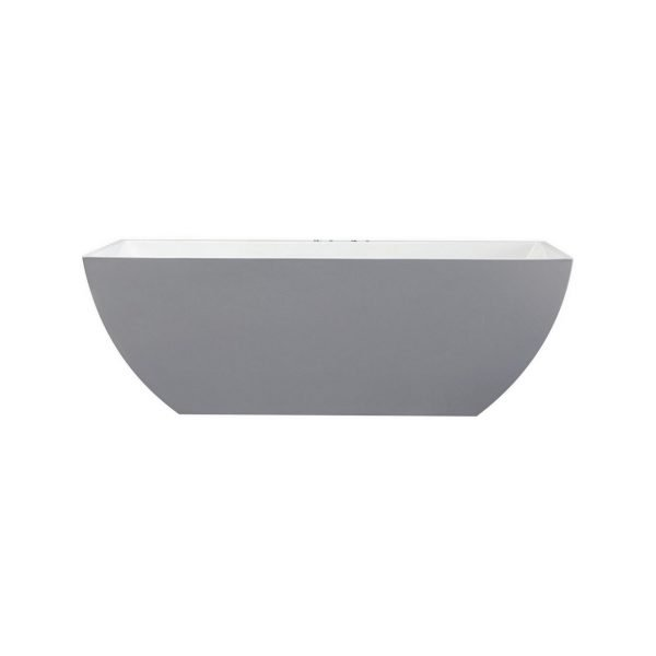 Kube Contemporanea 59'' White Free Standing Bathtub