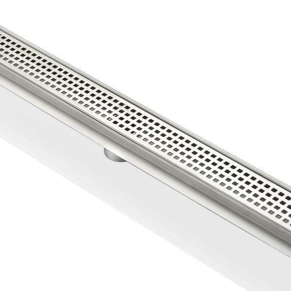 """Kube 28"""" Linear Drain with Pixel Grate"""