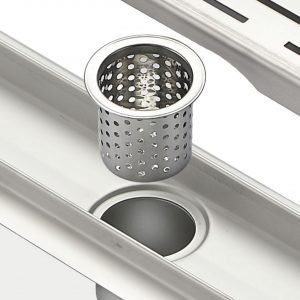 """Kube 36"""" Linear Drain with Tile Grate"""