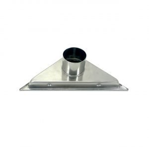 Kube 6.5″ Triangle Stainless Steel Tile Grate – Chrome