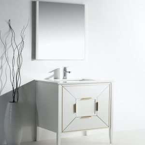 Vetro - Contemporary Vanity - White