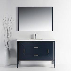Vetro - Contemporary Vanity - Blue