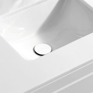 KubeBath Solid Brass Construction Pop-Up Drain With Overflow - White