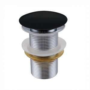 KubeBath Solid Brass Pop-Up Drain NO Overflow - Black