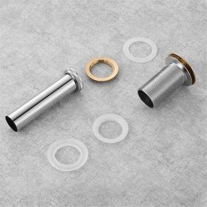 KubeBath Solid Brass Pop-Up Drain NO Overflow - Bronze