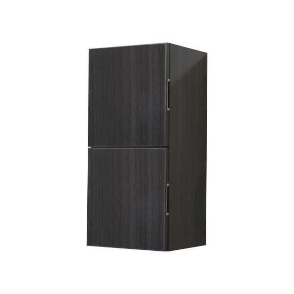 "Bliss 12"" Wide by 24"" High Linen Side Cabinet With Two Doors in Gray Oak Finish"