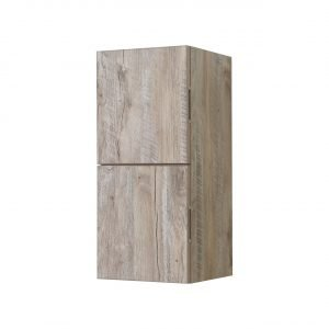 "Bliss 12"" Wide by 24"" High Linen Side Cabinet With Two Doors in Nature Wood Finish"