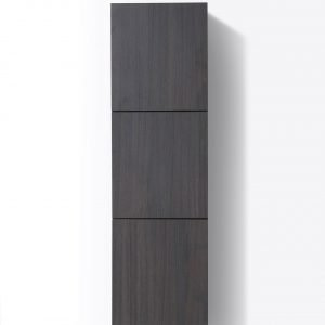 "Bliss 18"" Wide by 59"" High Linen Side Cabinet With Three Doors in Gray Oak Finish"